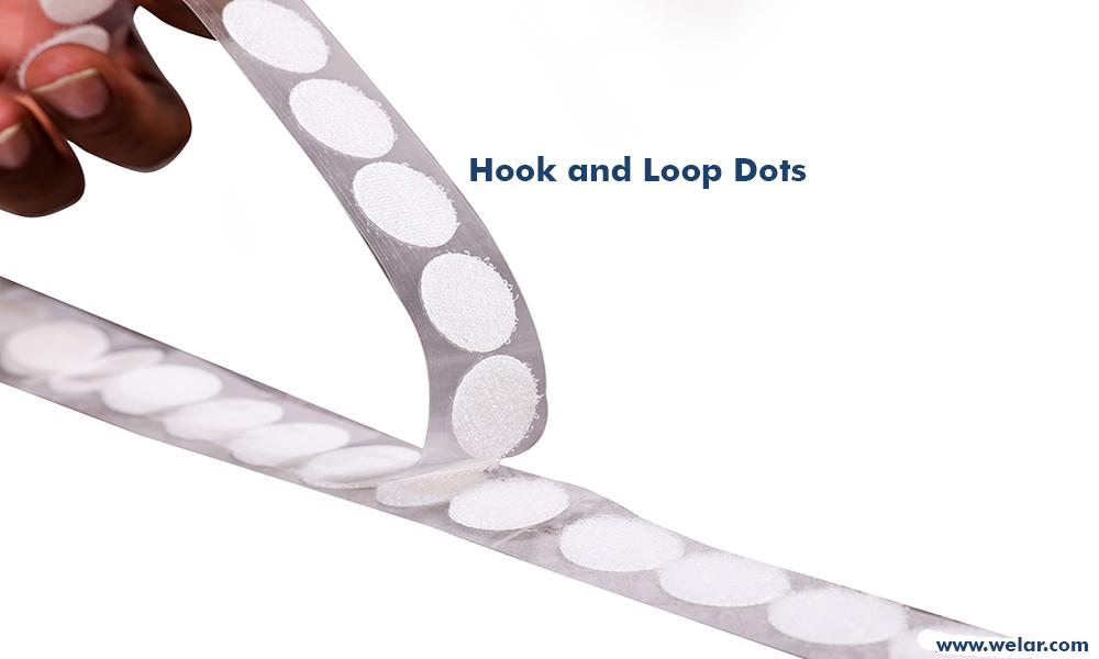 hook and loop dots